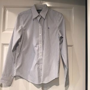 Ralph Lauren Stripped Non-Iron Blouse, NWOT